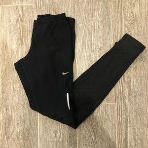 Nike Running Pants Size XS Mesh Panel Zipper
